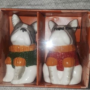 Bulldog salt and pepper shakers, bundle only
